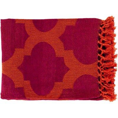 Kemp Throw Blanket Color: Plum