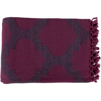 Kemp Throw Blanket Color: Mauve