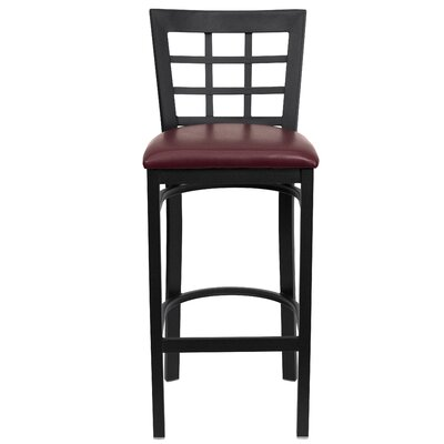 Mapilton Bar Stool (Set of 2) Upholstery: Burgundy Vinyl
