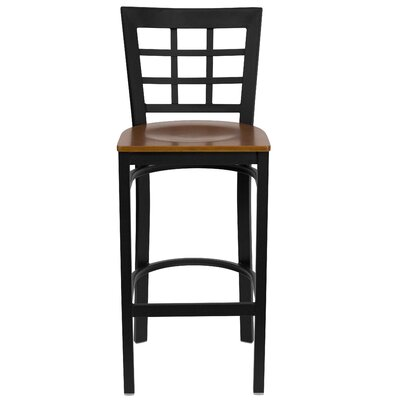 Mapilton Bar Stool (Set of 2) Upholstery: Cherry Wood