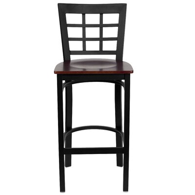 Mapilton Bar Stool (Set of 2) Upholstery: Mahogany Wood
