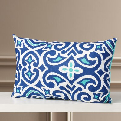 Fraley Lumbar Throw Pillow Color: Blue / White