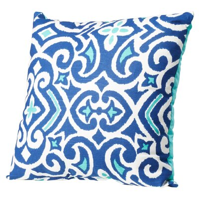 Fraley Throw Pillow Size: 18 H x 18 W, Color: Blue / White
