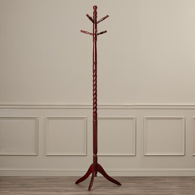 Twisted Center Coat Rack Finish: Cherry