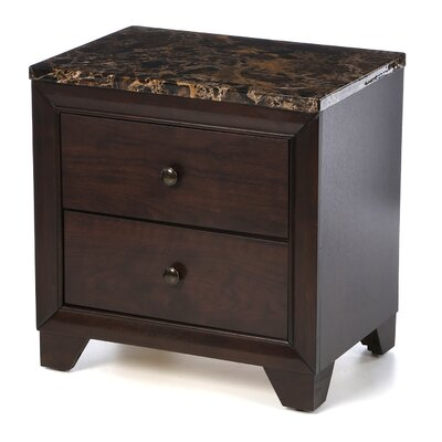 Curteys 2 Drawer Nightstand