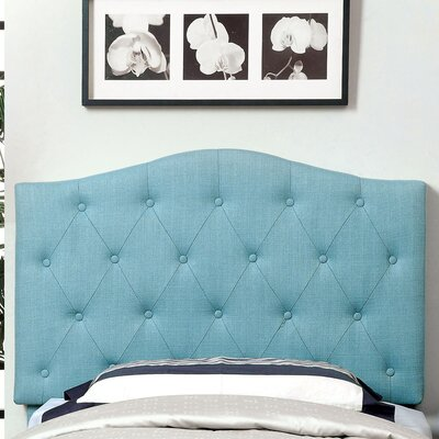 Scarcly Upholstered Panel Headboard Upholstery: Blue, Size: Twin