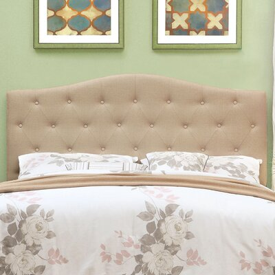 Scarcly Upholstered Panel Headboard Size: Full / Queen, Upholstery: Ivory