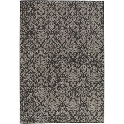 Eagon Black Indoor/Outdoor Area Rug Rug Size: Rectangle 53 x 76