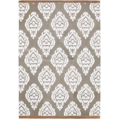 Letterford Hand Woven Gray Area Rug Rug Size: Rectangle 5 x 76