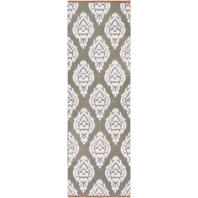 Letterford Hand Woven Gray Area Rug Rug Size: Runner 26 x 8