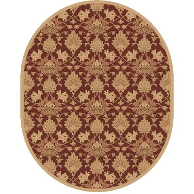 Higate Hand Tufted Beige Area Rug Rug Size: Oval 8 x 10