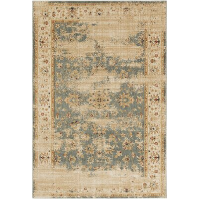 Tilghman Beige/Gray Area Rug Rug Size: Rectangle 110 x 211