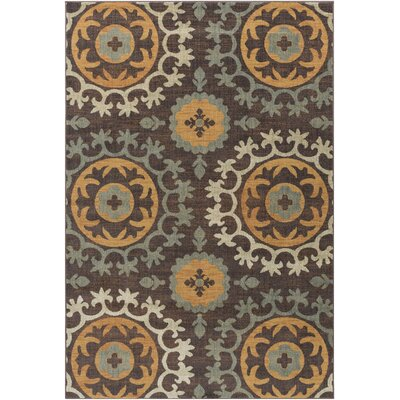 Tilghman Beige/Brown Area Rug Rug Size: Rectangle 710 x 910