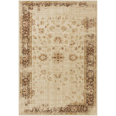 Tilghman Beige Area Rug Rug Size: Rectangle 110 x 211