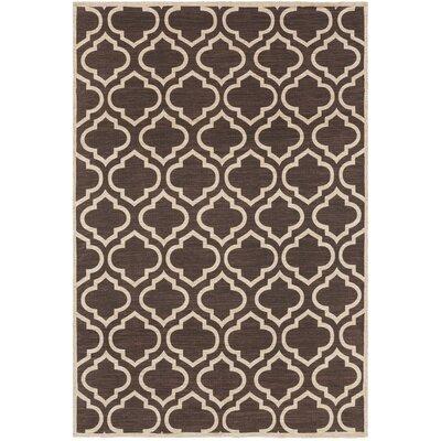 Inwood Hand Woven Black/Beige Area Rug Rug Size: 8 x 10