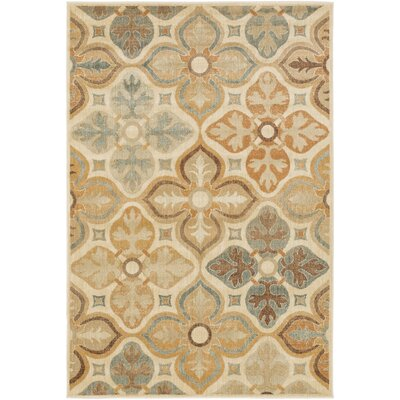 Lambton Gold & Beige Area Rug Rug Size: Rectangle 810 x 129