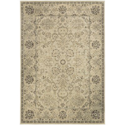 Lambton Beige & Moss Area Rug Rug Size: Rectangle 53 x 73