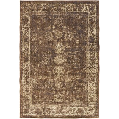Lambton Brown Area Rug Rug Size: Rectangle 110 x 211