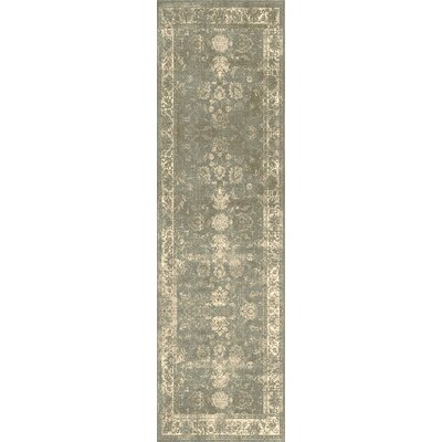 Lambton Green/Beige Area Rug Rug Size: Rectangle 110 x 211