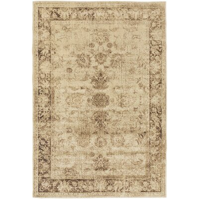 Lambton Beige Area Rug Rug Size: Rectangle 53 x 73