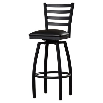 Portland 32 Swivel Bar Stool Upholstery: Black