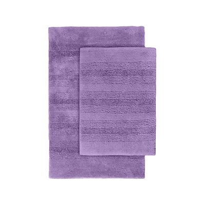 Herleston 2 Piece Bath Rug Set Color: Purple
