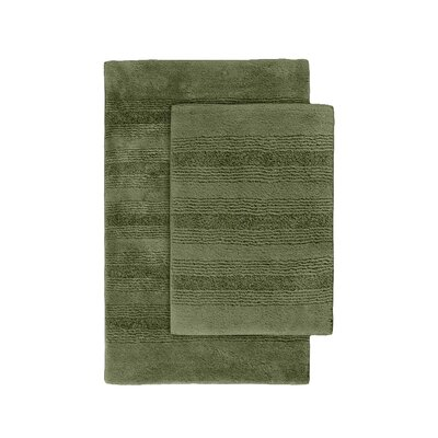 Herleston 2 Piece Bath Rug Set Color: Deep Fern