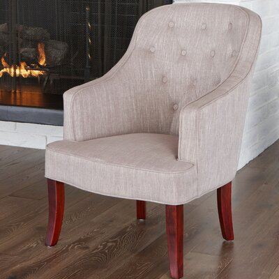 Lizton Barrel Chair Upholstery: Chamois/Cherry