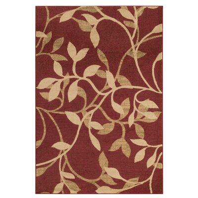 Gaskins Red Area Rug Rug Size: Rectangle 4 x 55