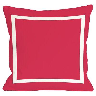Charlton Home Pekham Simple Square Polyester Throw Pillow