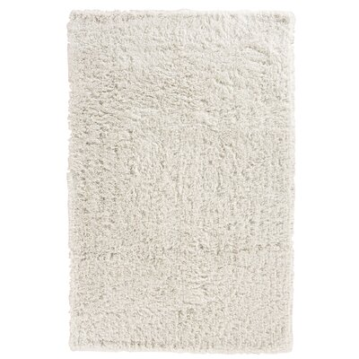 Pierce White Shag Area Rug Rug Size: 76 x 96