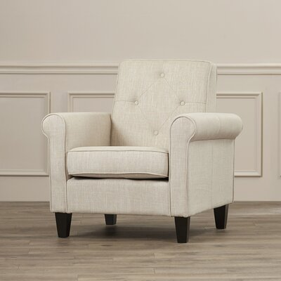 Coll Arm Chair Upholstery: Beige Linen