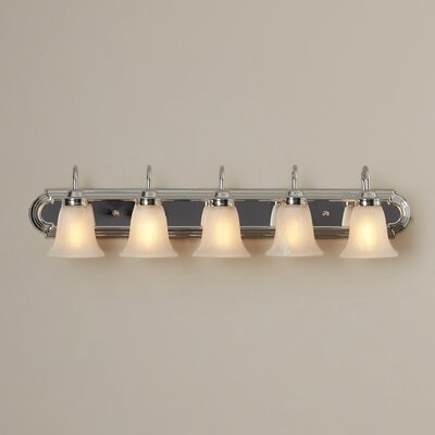 Sadler 5-Light Vanity Light Finish: Chrome