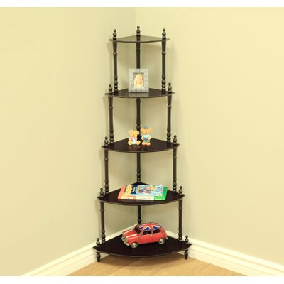 Ogden 47 Corner Unit Bookcase Finish: Cherry