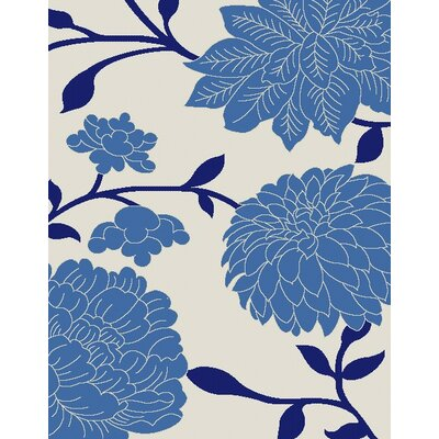 Octavius Beige / Blue Indoor / Outdoor Area Rug Rug Size: 53 x 77