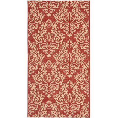 Alderman Red / Creme Indoor / Outdoor Area Rug Rug Size: 9 x 12
