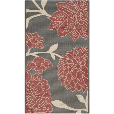 Octavius Anthracite / Beige Indoor / Outdoor Area Rug Rug Size: Rectangle 8 x 11