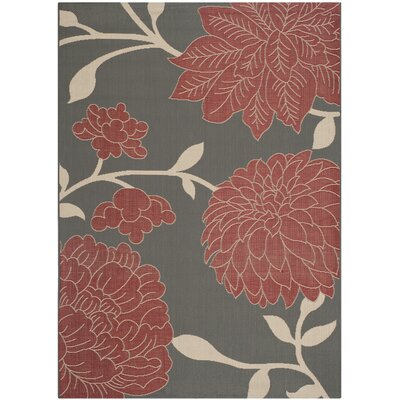 Alderman Anthracite / Beige Indoor / Outdoor Area Rug Rug Size: 8 x 11