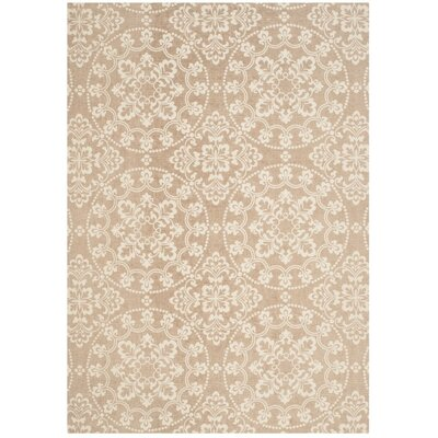 Charing Cross Hand-Loomed Taupe / Natural Area Rug Rug Size: Rectangle 4 x 6