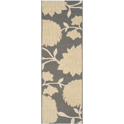 Octavius Anthracite / Beige Indoor / Outdoor Area Rug Rug Size: Rectangle 2 x 37