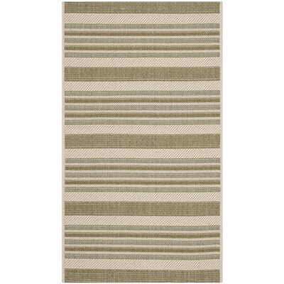 Octavius Beige / Green Indoor / Outdoor Area Rug Rug Size: Rectangle 2 x 37