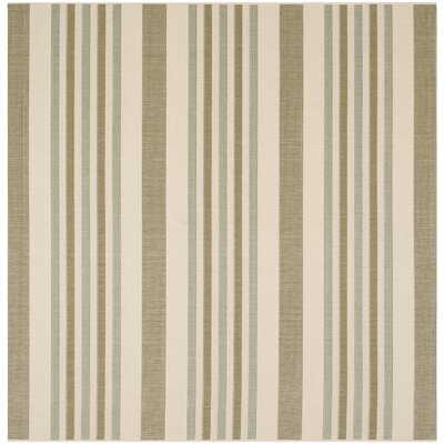 Octavius Beige / Green Indoor / Outdoor Area Rug Rug Size: Square 67