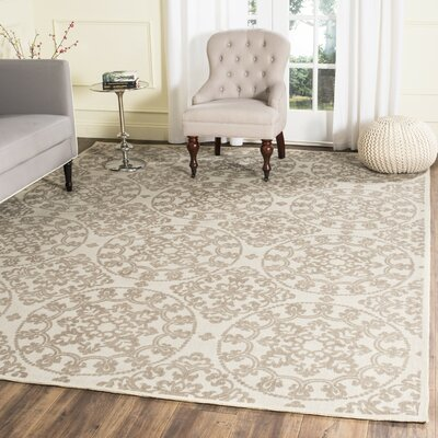 Charing Cross Hand-Loomed Natural/Taupe Area Rug Rug Size: Rectangle 8 x 10