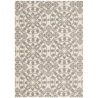 Charing Cross Hand-Loomed Natural / Grey Area Rug Rug Size: 4 x 6
