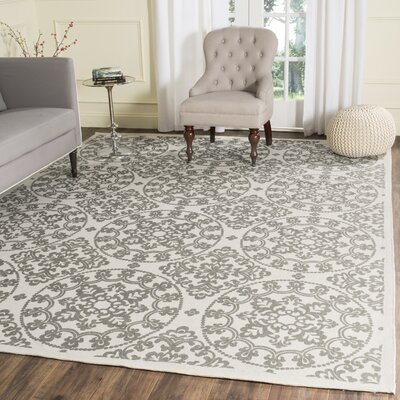 Charing Cross Hand-Loomed Natural / Grey Area Rug Rug Size: 23 x 39