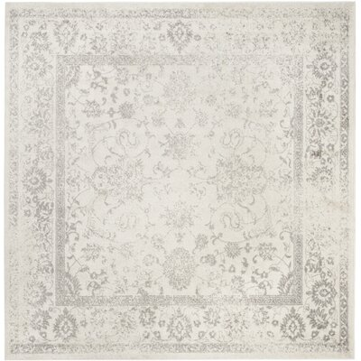 Reynolds Ivory/Silver Area Rug Rug Size: Square 12
