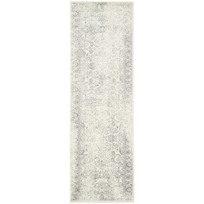 Reynolds Ivory/Silver Area Rug Rug Size: Runner 26 x 22