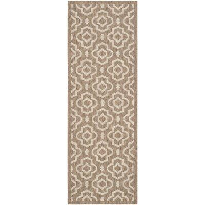 Octavius Brown/Bone Indoor/Outdoor Area Rug Rug Size: Rectangle 27 x 5