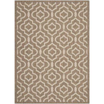 Alderman Brown / Bone Indoor / Outdoor Area Rug Rug Size: 4 x 57