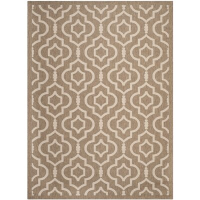 Alderman Brown / Bone Indoor / Outdoor Area Rug Rug Size: 53 x 77